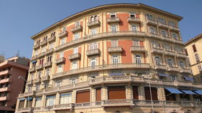 Big hotel in naples Royalty Free Stock Image