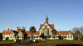 Big House. Historic building at the spa resort rotorua in New Zealand Stock Photography