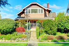 Big house with beautiful curb appeal Stock Photo