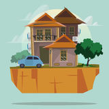 Big house with car. property concept -  Royalty Free Stock Photos