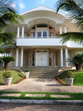 Big House. Facade of a large house with two floors, stately columns, nobility royalty free stock photo