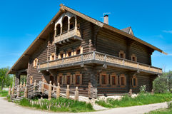 Big House From Timber Stock Image