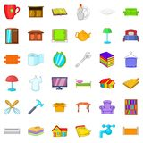 Big house icons set, cartoon style Stock Image