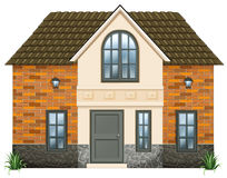 A big house. Illustration of a big house on a white background Stock Photos