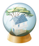 A big house inside the crystal ball Royalty Free Stock Photo