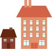 Big house little house Stock Image