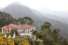 Big house. A big house in the mountains of colombia Royalty Free Stock Photo