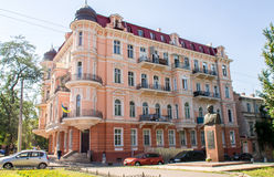 Big house in Odessa. In the summer. Ukraine Stock Image