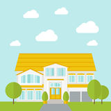 Big house with trees Royalty Free Stock Photography