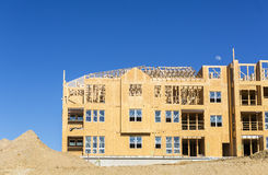Big house under construction Stock Photo