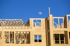 Big house under construction Stock Images