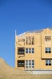 Big house under construction Royalty Free Stock Image