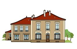 Big house. Vector illustration of a house, file EPS 8 Royalty Free Stock Photo
