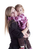 Big hug: mother and little girl Royalty Free Stock Image