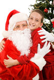 Big Hug for Santa Stock Photography
