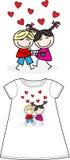 A big hug shirt pattern. A big hug Royalty Free Stock Photo