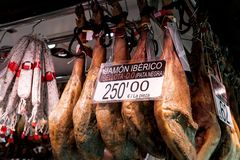 Big iberian ham Stock Photography