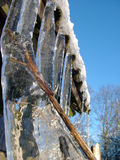Big ice. From roof Stock Photography