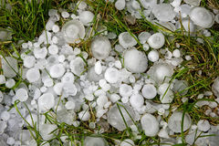 Big ice balls hail Royalty Free Stock Image