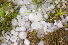 Big ice balls hail Stock Images