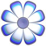 Big ice blue flower on white Royalty Free Stock Photo