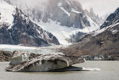 Big ice floe on Laguna Torre in Los Glaciares National Park Stock Photo