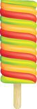 Big ice lolly. Big illustration of a coloured ice lolly on white Stock Photos