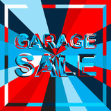 Big ice sale poster with GARAGE SALE text. Advertising vector banner Stock Image