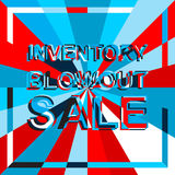 Big ice sale poster with INVENTORY BLOWOUT SALE text. Advertising vector banner Royalty Free Stock Photography