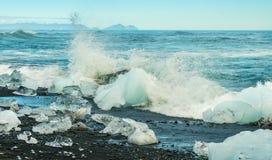 Big Iceberg Splash Royalty Free Stock Photography