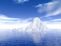 Big_Iceberg3. Big antarctic  iceberg - 3d scene. More in my portfolio Royalty Free Stock Image