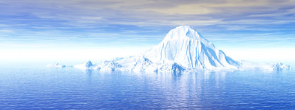 Big_Iceberg3_P. Big antarctic  iceberg - 3d scene Royalty Free Stock Photos