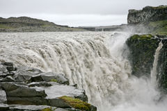 Big Iceland waterfall Stock Photography