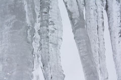 Big icicles Royalty Free Stock Photos