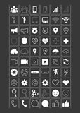 Big Icon set design,Universal,Website icon,Construction,Business,Finance,Medical icons,clean - stock . 60 icon. Big Icon set design 60 icons. Vector illustration Royalty Free Illustration