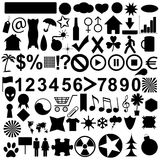 Big icons set Royalty Free Stock Photos
