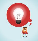 Big Idea. Nice and soft  illustration Stock Photography