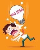 Big idea. When  Business man get the Big idea suddenly Stock Photos