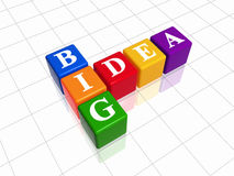 Big idea - colour crossword Royalty Free Stock Photos