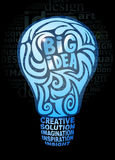 Big idea concept. Stylized light bulb Stock Photos