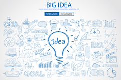 Big Idea concept with Doodle design style Royalty Free Stock Image