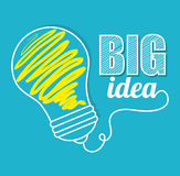 Big idea, creative and intelligence. Theme design, vector illustration royalty free illustration