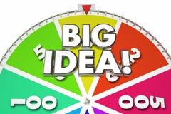 Big Idea Creativity Imagination Spinning Wheel Stock Image
