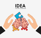 Big idea design. Vector illustration eps10 graphic Royalty Free Stock Images