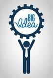 Big idea design Royalty Free Stock Photography