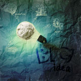 Big idea diagram on crumpled paper background Royalty Free Stock Images