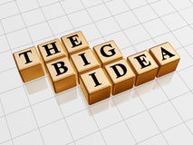The big idea - golden blocks Royalty Free Stock Photo