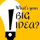 Big idea stock illustration