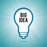 Big Idea Light Bulb Background Stock Image