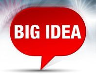 Big Idea Red Bubble Background. Big Idea Isolated on Red Bubble Background royalty free illustration